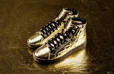 Modular Golden Sneakers - The Li-Night Way of Wade Diamond Athletic Shoe Designs Shine and Sparkle