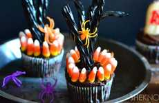 Spooky Tree Cupcakes - These Eerie Deserted Tree Halloween Sweets are Ideal for Parties
