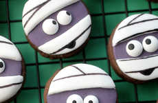 Miniature Mummy Cookies - These Spooky Chocolate Sugar Cookies are Perfect for Halloween