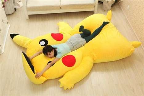 Anime Monster Beds - This Giant Pikachu Character Bed is Perfect for Pokemon Fans to Sleep In