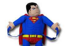 Plushy Superhero Backpacks - This Adorable Superman Backpack is Great for Fans of the Comic Book