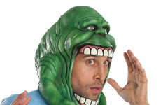 Movie Franchise Masks - The Ghostbusters Slimer Halloween Mask Brings Back the 80s Cult Classic