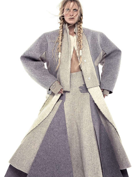 Frosty Fleece Editorials - Model Emily Baker Poses in Parkas for the Newest Vogue Netherlands Issue