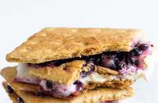 These Blackberry White Chocolate S'mores are a Twist on a Classic