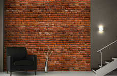 This Brick Effect Wallpaper Helps Give the Illusion of a Rustic Interior Space