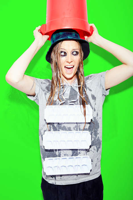 Charity Challenge Costumes - The Ice Bucket Challenge Costume Revisits the Social Media Phenomenon