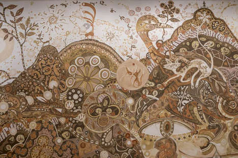 Massive Mud Murals - Artist Yusuke Asai Uses 27 Different Shades Of Mud for Work of Art