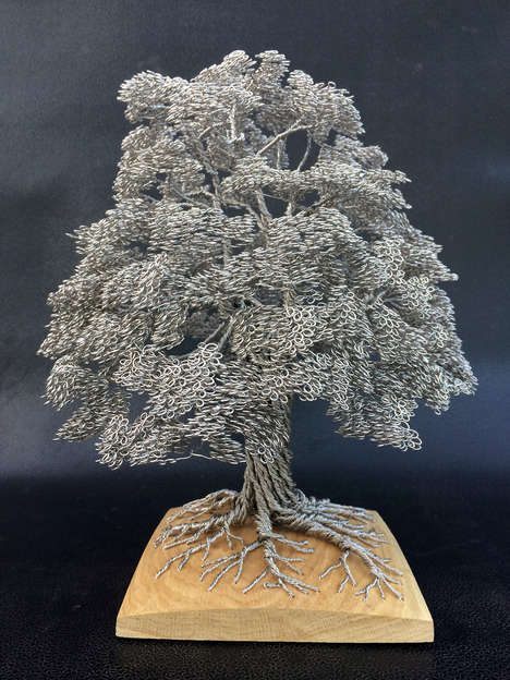 Wire Tree Sculptures - Clive Maddison Creates Dense and Decorative Foliage Out of Metal
