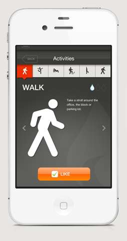 Active Challenge Apps - Hotseat Encourages Workers to Stop Sitting and Interact With Each Other
