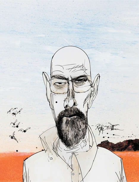 Drug Lord Illustrations - Ralph Steadman Created a Series of Breaking Bad Covers