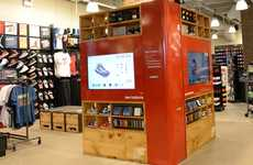 Virtual Customization Kiosks - Foot Locker Introduces an Interactive Shoe Customization Service