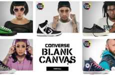 Custom Converse Projects - The Blank Canvas Initiative Encourages Customers to Design Their Own Shoe