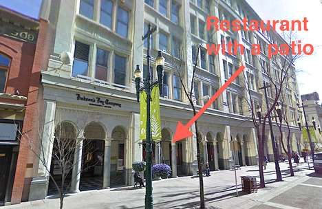 Retail Patio Spaces - Hudson's Bay Calgary is Leasing a Significant Portion to a New Restaurant