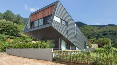 Upwards-Tilting Homes - The Leaning House's Tilted Design Helps It Capture Sunlight