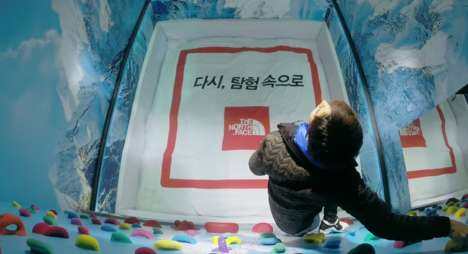 Disappearing Floor Stunts - This 'The North Face' Stunt Gave Shoppers Quite a Scare