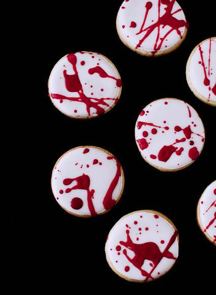 Blood Splatter Cookies - These Creepy Treats are Best Served at Halloween Parties