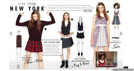 Unlikely Fashion Collaborations - Saks Fifth and SNL Team Up for a Key to the Cure Collection
