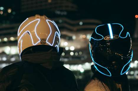 Sci-Fi Biker Helmets - The Lightmode Motorcycle Helmet Gives Safety a Futuristic Twist