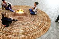 Communal Creative Carpets - Domestic Gathering by Stephanie Langard Boasts a Bonfire in the Middle