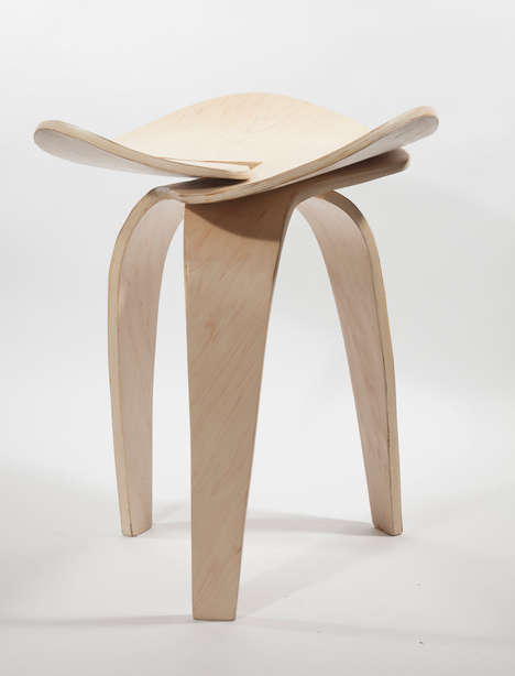 Fluid Modern Stools - Trio by Andrea Quiros-Balma is a Jointless Design