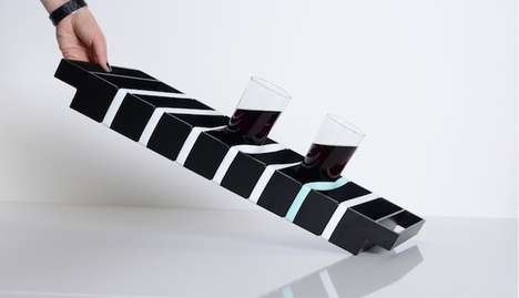 No Spill Trays - Grip by Finell is an Elastically Modern Design That Keeps Everything in Place