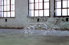 Ephemeral Bubble Art - Luka Fineisen's Sculptures Looks as Though They Will Pop at Any Moment
