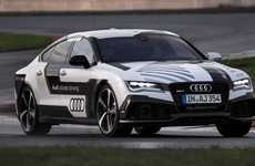 Driverless Concept Cars - The Audi RS 7 Concept Completed A Fast Lap Of A Formula One Track