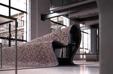 Deceptive Carpet Sofas - Alessandro Isola Designs a Functional Couch that belongs in 'Aladdin'