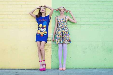 Fashionable Cartoon Collaborations - The Simpsons Hello Kitty Collection Honors Two Anniversaries