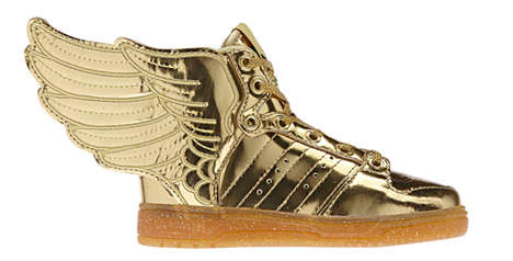 Golden Winged Sneakers - The Latest adidas Originals by Jeremy Scott Shoe Boasts the Midas Touch