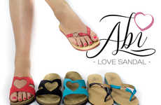 Suntan Heart Sandals - Abi Smithson's Cute Summer Sandal Design Makes Tan Lines Attractive