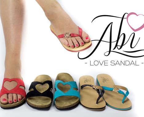 Suntan Heart Sandals