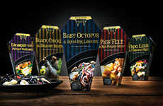 Coffin Food Packaging - This Halloween Food Packaging Highlights Creepy Ingredients