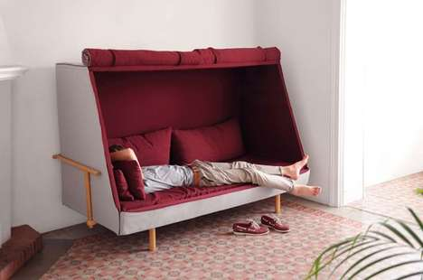Privacy Fort Furniture - Orwell by Goula Figuera is a Comfy Couch that Playfully Promotes Privacy