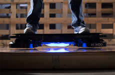 Futuristic Hovering Skateboards - The Hendo Hoverboard Brings Science Fiction Awesomeness to Life