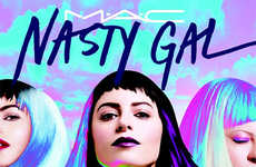 Fierce Makeup Collaborations - The Mac Cosmetics Nasty Gal Collection is Full of Deep Vibrant Hues