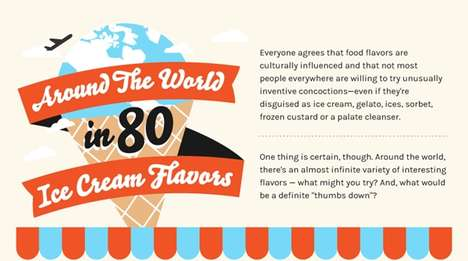 International Ice Cream Infographics - This Informative Chart Explores Interesting Ice Cream Flavors