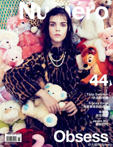 Stuffed Toy Covers - Meghan Collison is on the Cover of Numero China #44