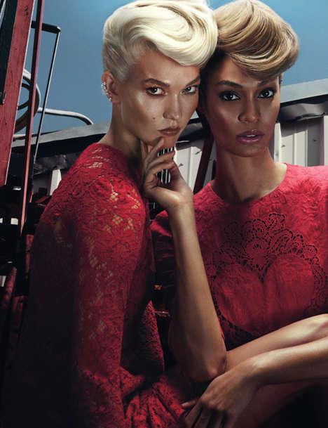 Intense Friendship Editorials - Joan Smalls and Karlie Kloss Star in W Magazine's November Issue