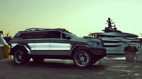 Luxury Armored SUVs - The Prombron Black Shark is Sleek and