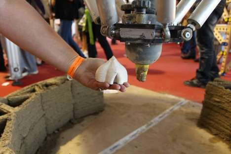3D-Printed Mud Houses - The Wasp 3D Printers Construct Low-Cost Mud Houses