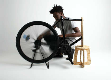 Cyclist Centrifuge Concepts - This Low-Cost Centrifuge Attaches to a Bike Wheel to Separate Liquids