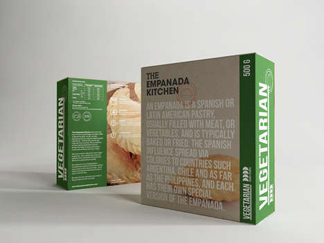 Informative Food Packaging - The Empanada Kitchen Food Box Packaging is Explanatory