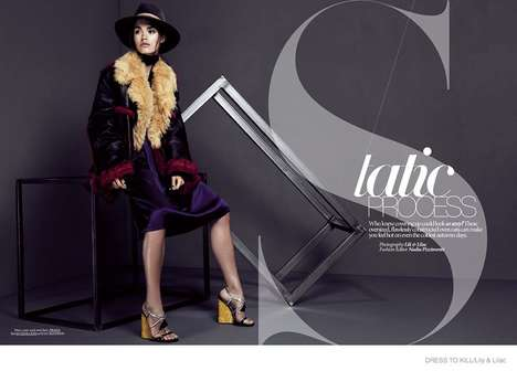 Modern Fall Outerwear - The Latest Issue of Dress to Kill Magazine Stars Model Britt B.