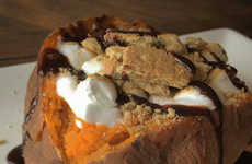 Sweet Potato S'mores - This Jacked Up Marshmallow and Sweet Potato Takes Thanksgiving to a New Level