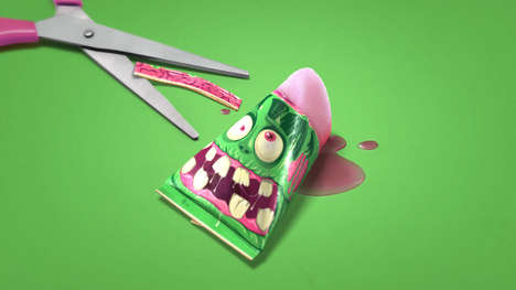 Creepy Ice Pop Packaging - Zombis Are Fun Freezer Pops Where You Eat the 'Brain' Inside