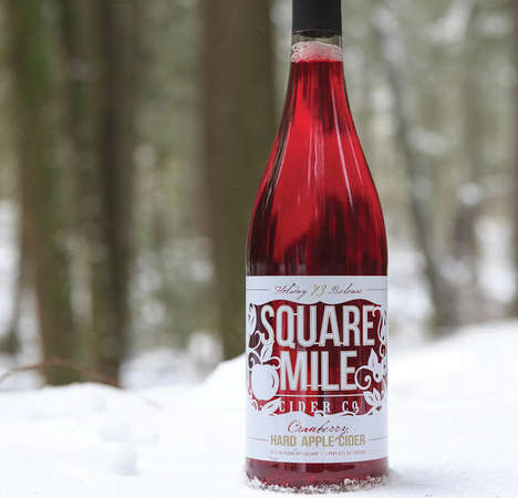 Cranberry Apple Ciders - This Square Mile Cider Co. Drink is Made from Cranberries