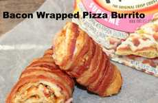Bacon-Wrapped Burritos - This Oh, Bite It! Pizza Burrito is Kept Together Using Bacon Strips
