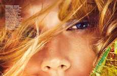 Effervescent Beauty Closeups - This Toni Garrn Editorial Graces Allure's November Issue