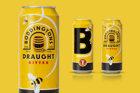 Buzzworthy Beer Cans - Boddingtons Draught Bitter Beer Can Buzzes with Bold Flavor